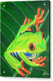 Ribbit Acrylic Print by Lane Owen