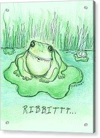 Ribbittt.... Acrylic Print by Denise Fulmer