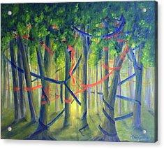 Ribbon Dance Acrylic Print