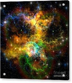 Ribbon Nebula Acrylic Print by Corey Ford