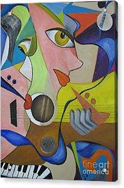 Ribbon Of Blues And Jazz Acrylic Print