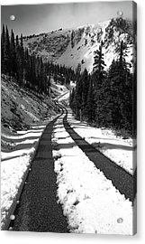 Ribbon To The Unknown Monochrome Art By Kaylyn Franks Acrylic Print