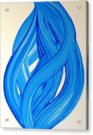 Ribbons Of Love-blue Acrylic Print