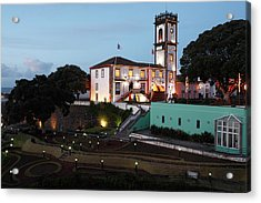 Ribeira Grande Town Hall Acrylic Print by Gaspar Avila