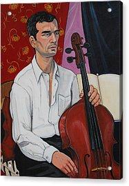 Ricardo With Cello Acrylic Print by Diana Blackwell