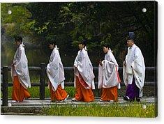 Rice Harvest Ceremony Acrylic Print by Kobby Dagan