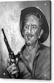 Acrylic Print featuring the painting Richard  Boone by Paul Weerasekera