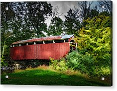 Richards Covered Bridge Acrylic Print by Marvin Spates