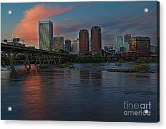 Richmond Dusk Skyline Acrylic Print
