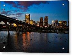Richmond Skyline At Night Acrylic Print