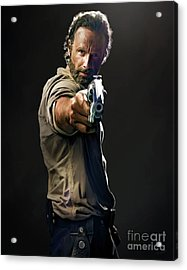 Rick Grimes  Acrylic Print by Paul Tagliamonte
