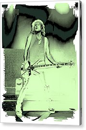 Rick Savage - Def Leppard Acrylic Print by David Patterson