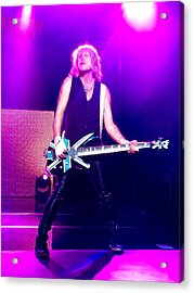 Rick Savage Of Def Leppard Acrylic Print by David Patterson
