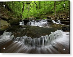 Ricketts Glen State Park Pennsylvania Acrylic Print by Mark VanDyke