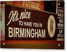 Rickwood Billboard Acrylic Print