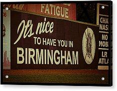 Rickwood Billboard Poster Acrylic Print