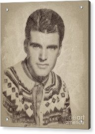 Ricky Nelson, Music Legend By John Springfield Acrylic Print by John Springfield