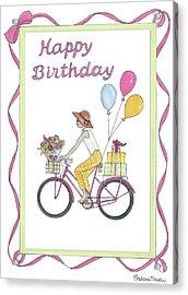 Ride In Style - Happy Birthday Acrylic Print