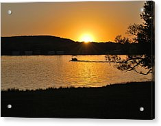 Ride Into The Sunset Acrylic Print by Teresa Blanton