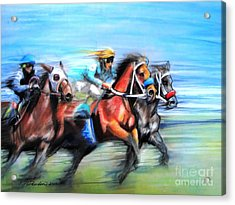 Acrylic Print featuring the painting Ride Like The Wind by Patricia L Davidson