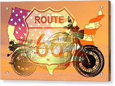 Ride Route 66 Acrylic Print