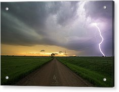 Ride The Lightning 2016 Acrylic Print by Aaron J Groen