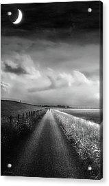 Ride The Moonlight Acrylic Print by Wim Lanclus