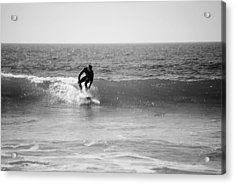 Ride The Surf Acrylic Print by Bransen Devey