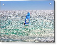 Acrylic Print featuring the photograph Ride The Waves, Scarborough Beach by Dave Catley