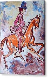 Rider And Horse Acrylic Print