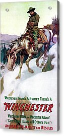 Acrylic Print featuring the painting Rider And Packhorse by Philip R Goodwin