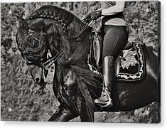 Acrylic Print featuring the photograph Rider And Steed Dance D6032 by Wes and Dotty Weber