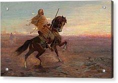 Rider In The Desert Acrylic Print