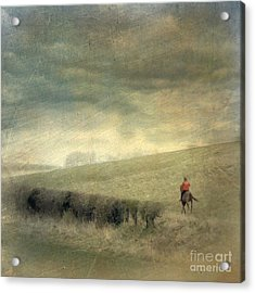 Acrylic Print featuring the photograph Rider In The Storm by LemonArt Photography