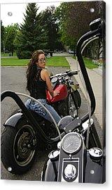 Rider Acrylic Print by Paul Wash