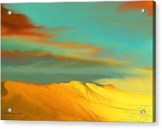 Acrylic Print featuring the digital art Ridge by Kerry Beverly
