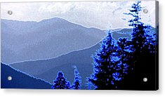 Acrylic Print featuring the photograph Ridge Layers 4 Ae by Lyle Crump