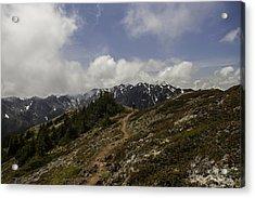 Ridge Walking In The Olympic Mountains Acrylic Print