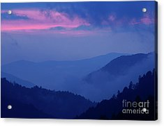 Acrylic Print featuring the photograph Ridges - D000023 by Daniel Dempster