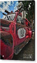 Ridgway Fire Truck Acrylic Print