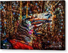 Acrylic Print featuring the photograph Riding A Carousel In My Colorful Dream by Michael Arend