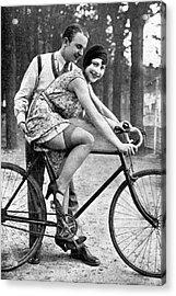 Riding Bike Makes Sexy Acrylic Print by Steve K