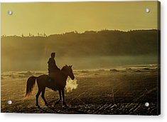 Riding His Horse Acrylic Print