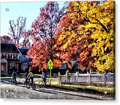 Riding Home From School Acrylic Print by Susan Savad