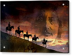 Riding Into Eternity Acrylic Print