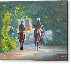 Riding Out Kilcolgan, Co Galway Acrylic Print by Tomas OMaoldomhnaigh