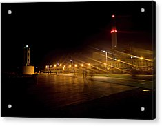 Acrylic Print featuring the photograph Riding Station, Tel Aviv by Dubi Roman