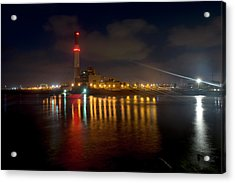Acrylic Print featuring the photograph Riding Station, Tel Aviv, Water Side by Dubi Roman