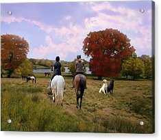 Riding The Fall Cheshire Countryside Acrylic Print