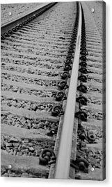 Riding The Rail Acrylic Print